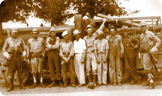 early photo of CPWS workers